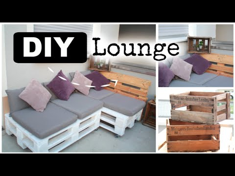 Diy lounge aus europaletten ad youtube for Garten lounge klein