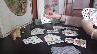Гадание на Даму Треф♣️(Крести)♣️.На себя.Цыганский расклад на игральных картах на ближайшее будущее.