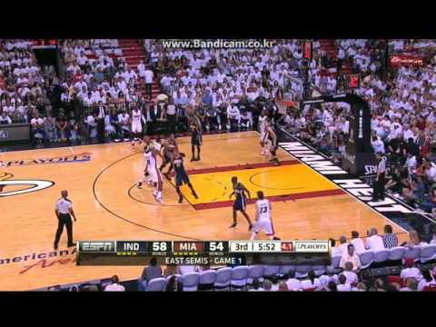 [2012 NBA Playoffs ECSF Game 1] Miami Big3 vs Pacers