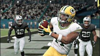 Madden 20 Gameplay - Super Bowl II Rematch Oakland Raiders vs Green Bay Packers - Madden NFL 20