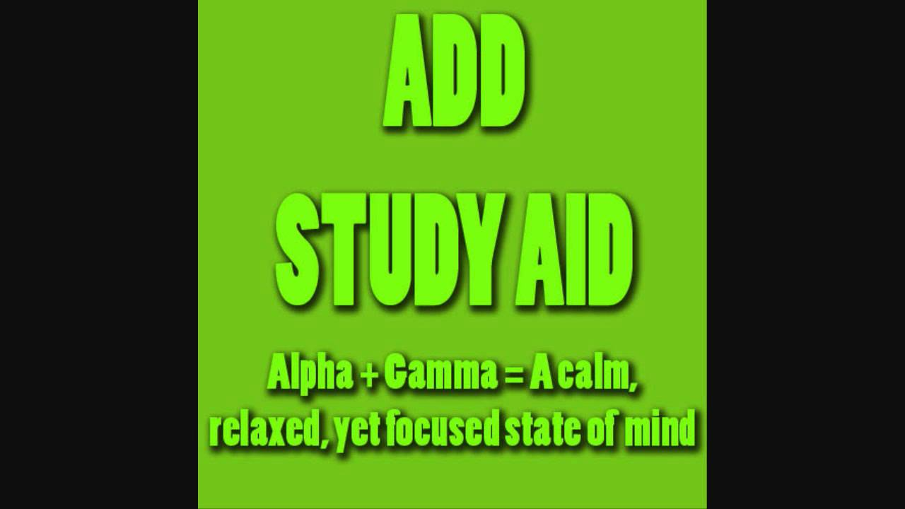 ADD/ADHD Study Aid V.2 | 'Focal Point' Pure Focus & Memory ...
