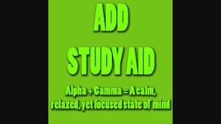Repeat youtube video Study Aid 6  - Alpha + Gamma (Helps With ADD/ADHD) - Brain Entrainment