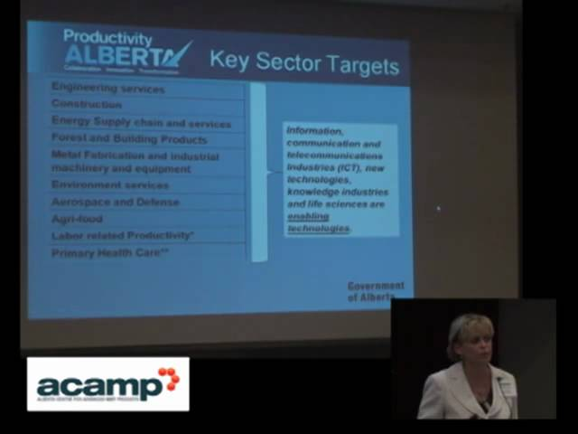 ACAMP MNT Agriculture Forestry Seminar 2010: Lori Schmidt- Productivity Alberta 1 Travel Video