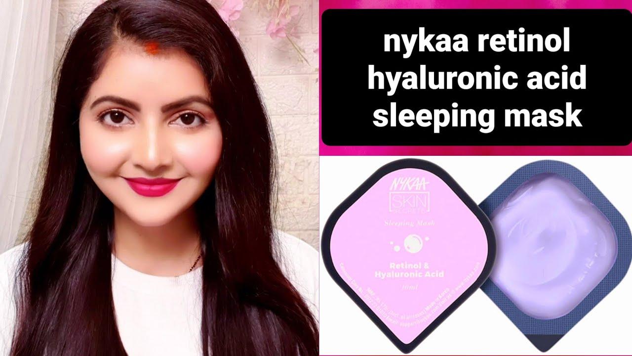 NYKAA skin secrets Retinol hyaluronic acid sleeping mask review & demo   RARA   water sleeping mask