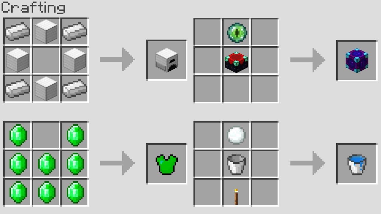 NEW MINECRAFT CRAFTING RECiPES! (Minecraft 1.13 Snapshot ...