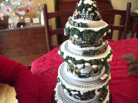 Thomas Kinkade Christmas Tree with Train