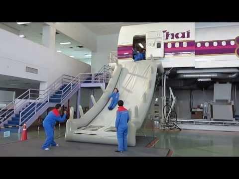 Thai Airways Emergency Evacuation Training