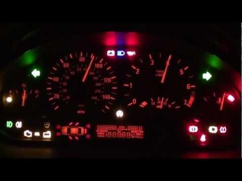 BMW E46 Dash Light Up Trick - Shows ALL Warning Lights & Symbols