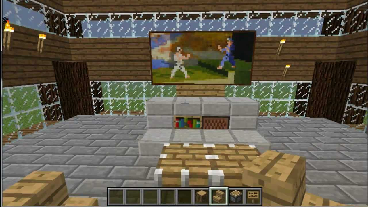 Minecraft Tutorial: Build a T.V. and Basic Living Room ...
