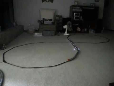 N-scale model train railroad track layout.