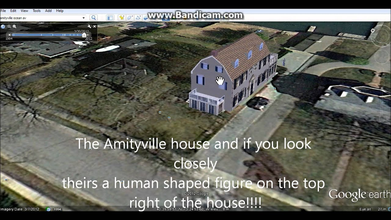 Google Earth The Amityville House And Strange Human Figure