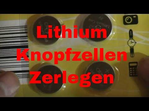Lithium Knopfzellen Batterien zerlegen - eflose #755