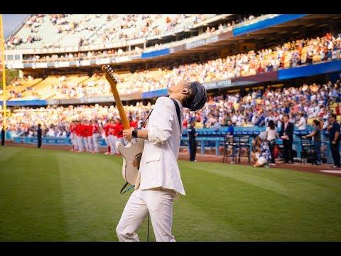 MIYAVI Performs the U.S. National Anthem at Dodger Stadium
