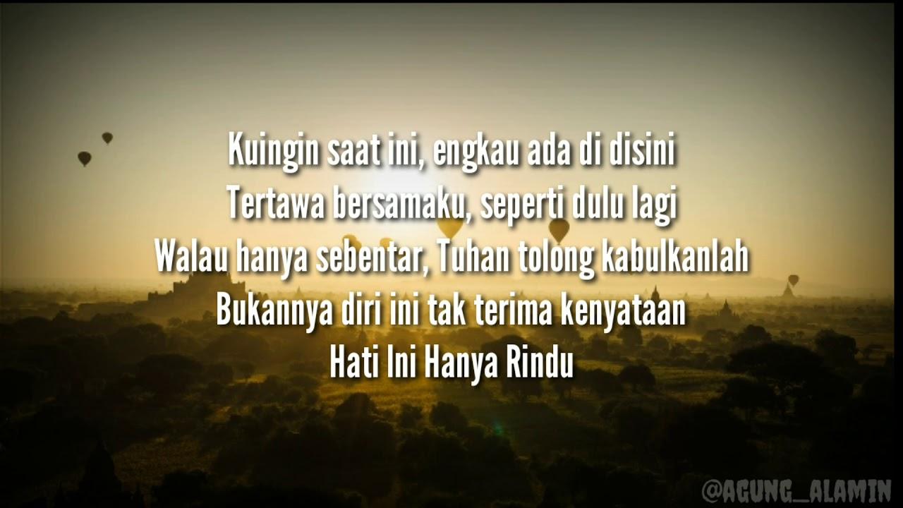 Lirik Lagu Andmesh - Hanya Rindu - YouTube