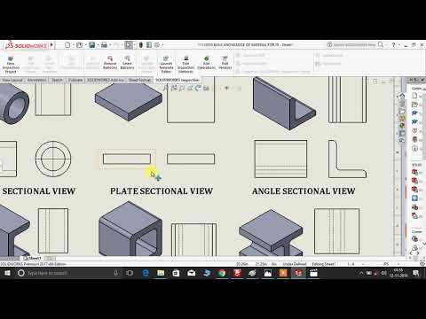 How To Read Structural Steel Drawing View/ Structural Fabrication Drawing Sectional View / (Hindi)
