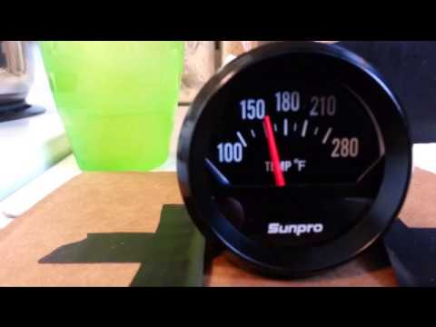 hqdefault sunpro gauge cp8211 electric temp gauge sticking youtube sunpro gauges wiring diagram at reclaimingppi.co