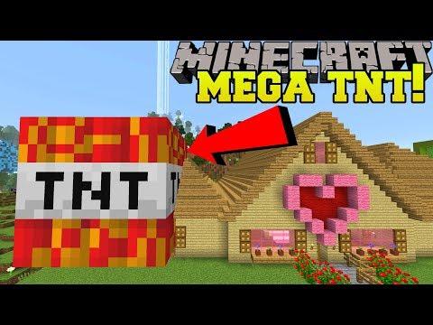 Minecraft: MEGA TNT!!! (TNT BIGGER THAN JEN'S HOUSE!)