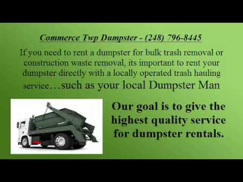Commerce Twp Dumpster.wmv