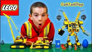 JackJackPlays Construction with Lego Movie Construct-o-Mech and Trucks