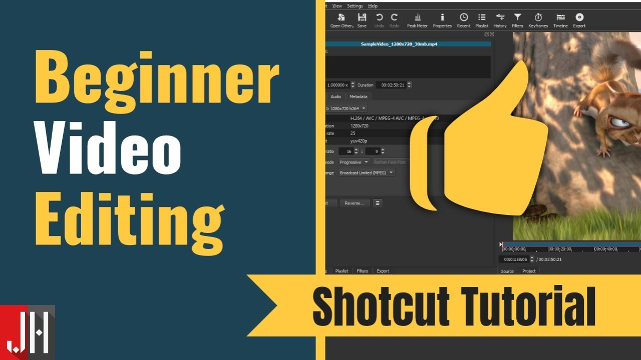 Step by Step Video Editing - Shotcut Tutorial