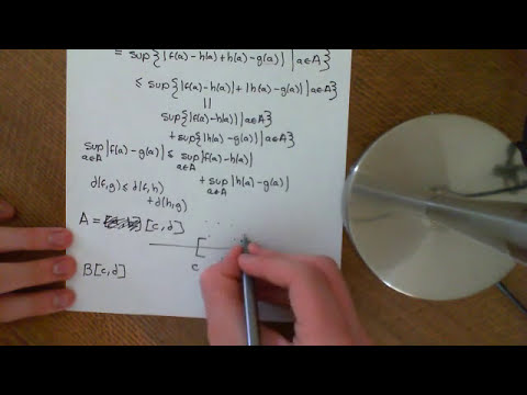 Metric Space on B(A)