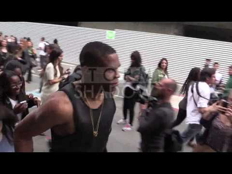 Russell Westbrook at 2014 Givenchy Menswear fashion show in Paris