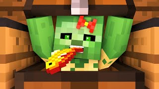 zombie vs villager life 8 alien being minecraft animation