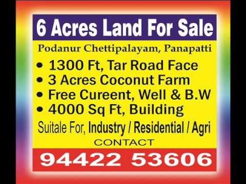 6 acr Coconut farm land sale in coimbatore 9442253606