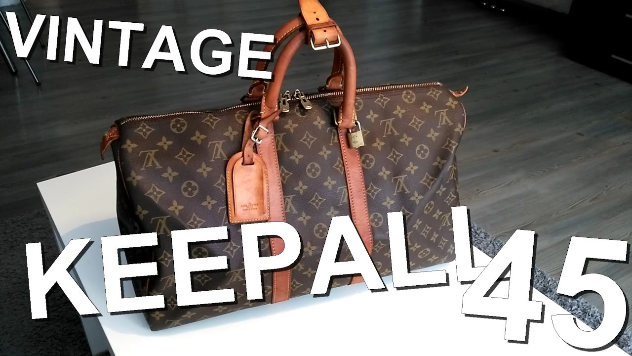 57395b1be62 Restauration Louis Vuitton keepall 45 - YouTube