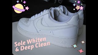 How to Whiten Soles & Deep Clean Your Shoes