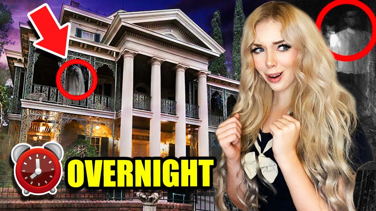 24 HOURS CHALLENGE OVERNIGHT IN THE HAUNTED MANSION!