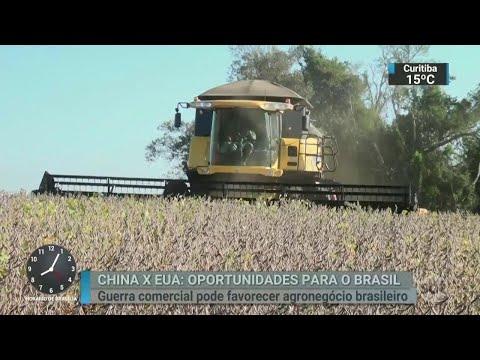 Guerra comercial entre China e EUA pode favorecer agronegócio no Brasil | SBT Brasil (16/04/18)