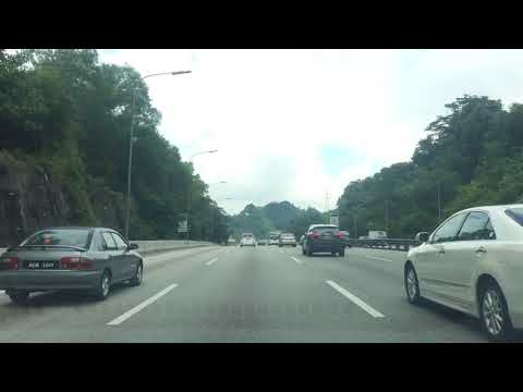 Time Lapse Video Ride Tour in Kuala Lumpur City Klang Valley Highway Federal and Plus North South