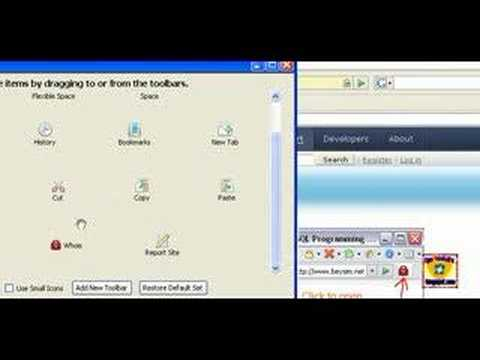 How to place whois button on firefox Nav Toolbar