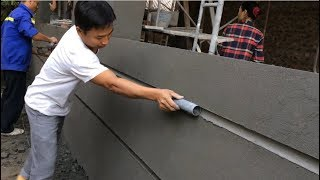 How to make a professional wall, using sand and cement ratio 1/3