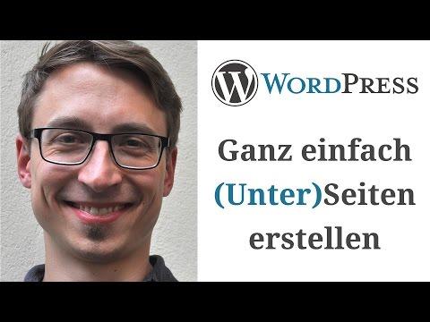 WordPress Seiten erstellen (Unterseiten)