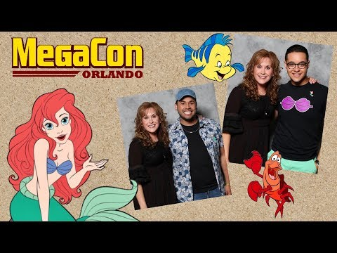 Meeting the Voice of Ariel, Jodi Benson VBLOG: Disney Springs: MegaCon Orlando 2018