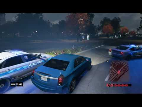 WATCH_DOGS (2014) Waterfront plaza shooting and police chase