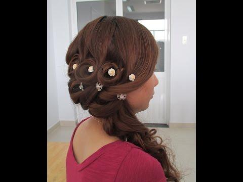 Kiểu tóc cô dâu mặc áo dài tiệc ngày P2