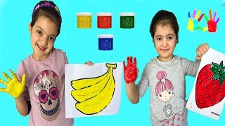 AKTİVİTE ZAMANI - Education activities video for kids, children and toddlers with Finger Paints