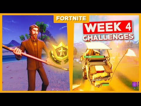ALLE WEEK 4 CHALLENGES + GRATIS TIER! - Fortnite