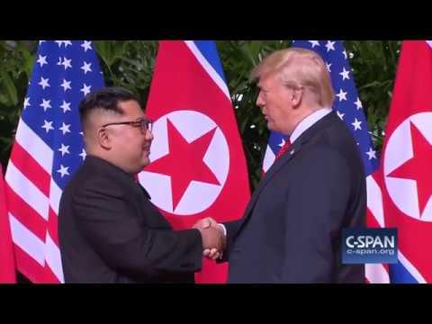 President Trump and North Korean leader Kim Jong Un Handshake (C-SPAN)