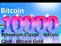 Bitcoin Smashed $10,000 - Market updates - Bitcoin Cash, Ethereum Classic, Bitcoin Gold