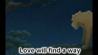 Lion king 2- Love will find a way lyrics
