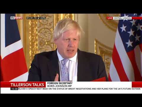 Boris Johnson and Rex Tillerson hold press conference