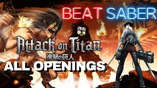 [beat Saber] Attack On Titan - Shingeki No Kyojin - All Openings (1-5) Season 1-3