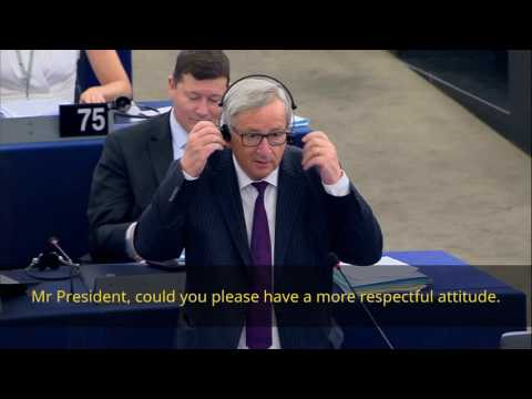 Juncker calls empty EU Parliament