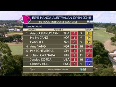 Day three 2015 ISPS HANDA Women's Australian Open - LIVE