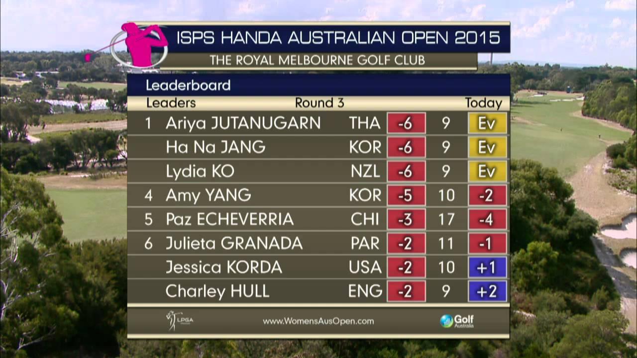 Day three 2015 ISPS HANDA Women's Australian Open - LIVE