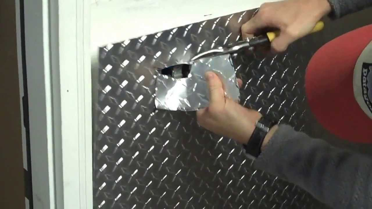 Part 1 Installing Aluminum Diamond Plate Wall Panels In Garage How To Cut Around An Outlet You